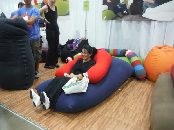Yogibo bean bag at DC Green Festival 6-5-15