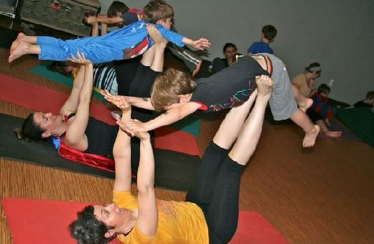 family yoga lil omm airplane