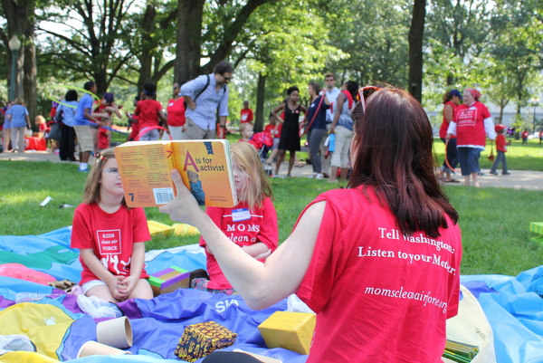Moms Clean Air Force Play-In for Climate Action 2015 Activist Alphabet storytelling