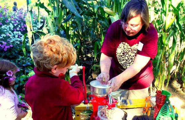 Arcadia Farm Grinding Corn Fall Funtacular 2014