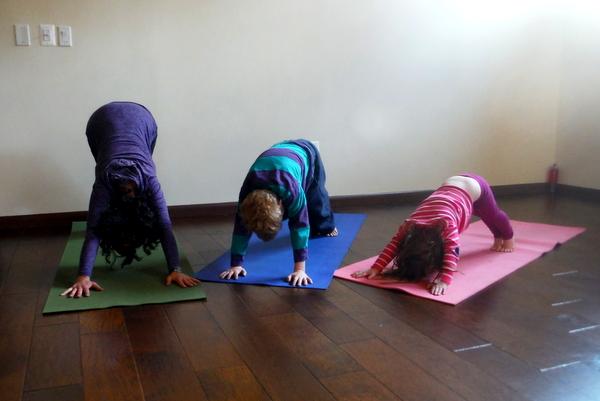 Family Yoga with Cathy Burke at JOURNEYoga Arlington