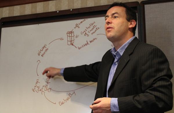 Patrick McKeown explaining Buteyko Breathing method