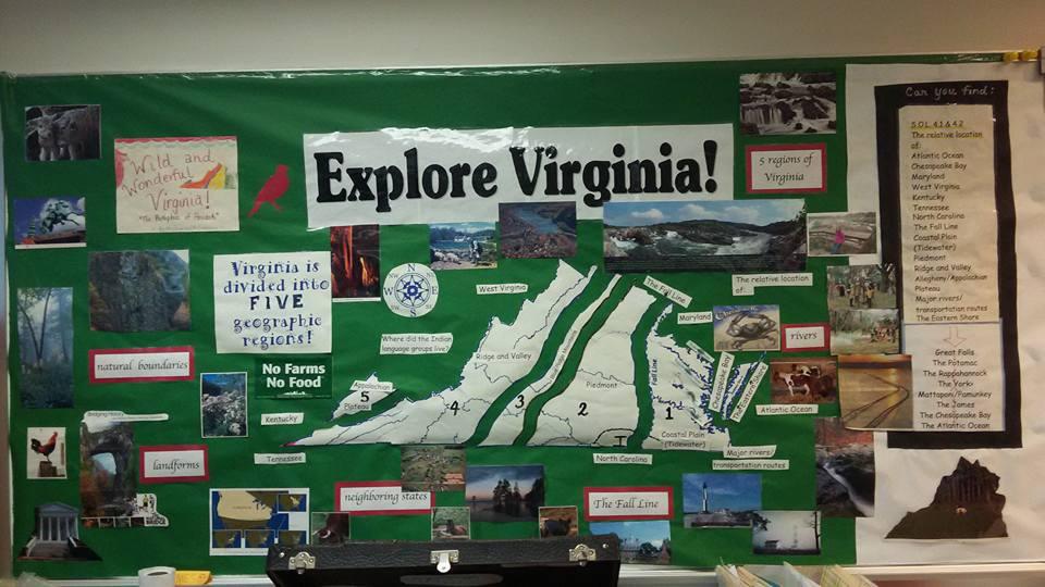 Tuckahoe Elementary Discovery Schoolard Explore Virginia 4th grade classroom