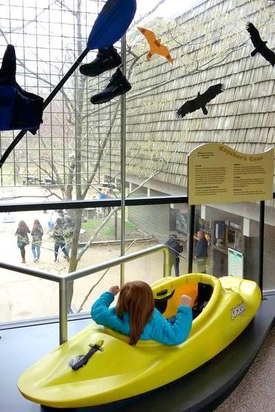 great falls climb in a kayak visitor center