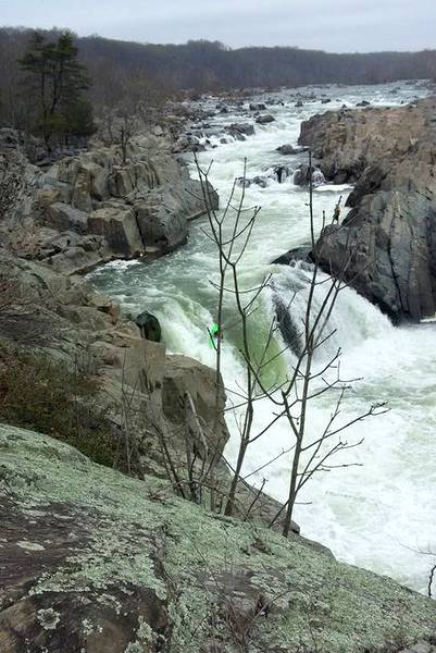 great falls kayaker going over