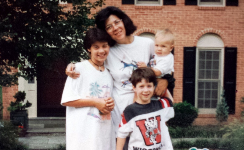 Jenifer and her children, 1995