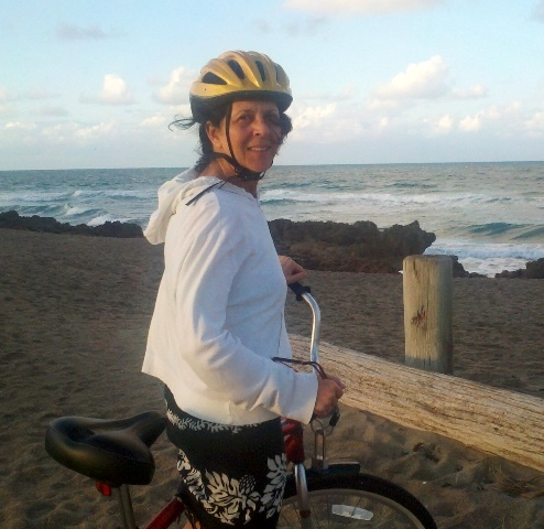 JJ beach on bike photo