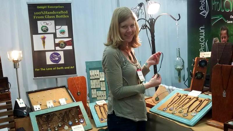 Oddgirl Enterprises recycled glass DC Green Festival