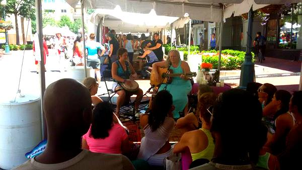 2016 Love Your Body Yoga Festival bhakti tent sing