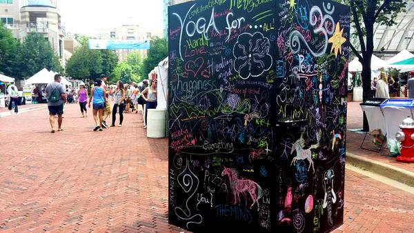 2016 Love Your Body Yoga Festival chalk