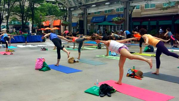 2016 Love Your Body Yoga Festival group class balanc