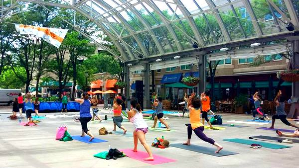 2016 Love Your Body Yoga Festival group class standing pose