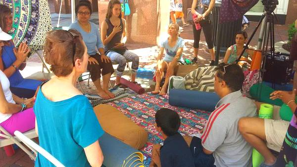2016 Love Your Body Yoga Festival speakeasy tent talk