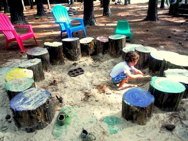 Annmarie Sculpture Garden Art Lab - Fairy Lolly sandbox