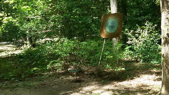 Annmarie Sculpture Garden art in woods