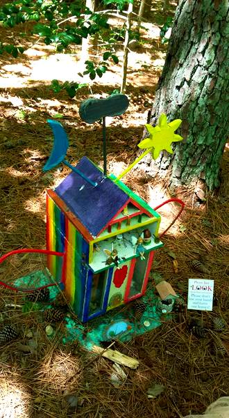 Annmarie Sculpture Garden rainbow fairy house