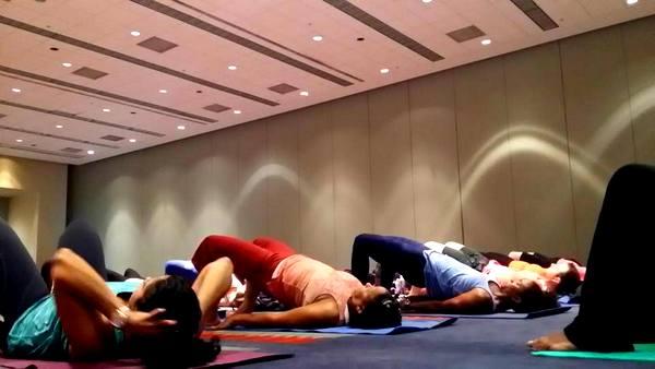 DC Yoga Expo 2016 Drishti Beats bridge pose