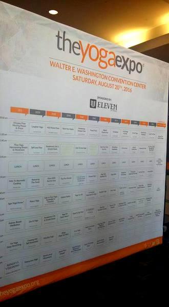 DC Yoga Expo 2016 giant matrix
