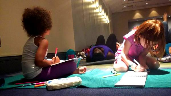 DC Yoga Expo 2016 kids in class