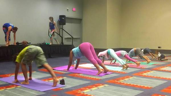 YoKid Yoga at DC Yoga Expo 2016 downward dog