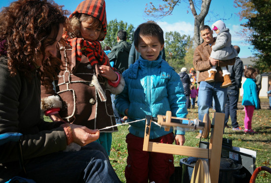 Potomac Crescent Waldorf School Fall Festival spinning