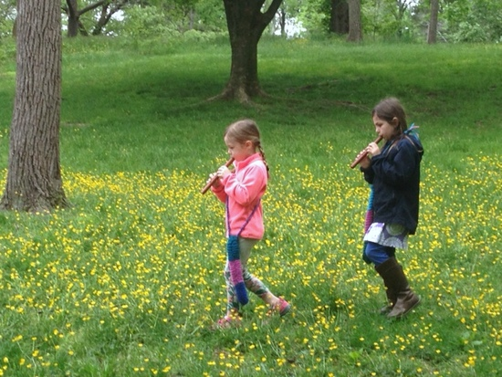 Potomac Crescent Waldorf School nature walk with music