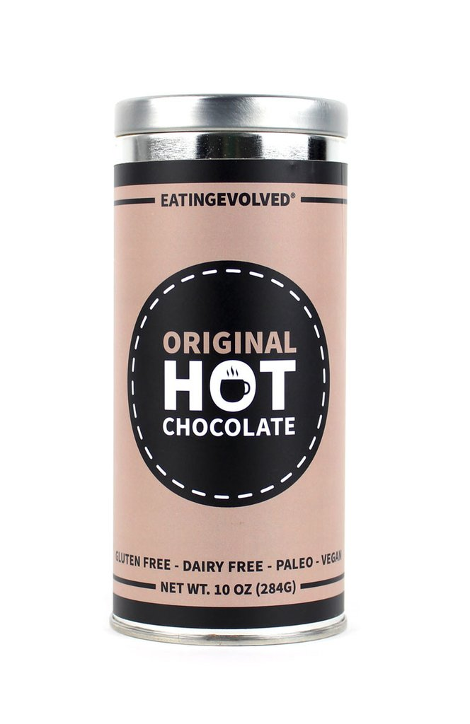 eating EVOLVED Original Hot Chocolate