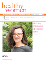 Screenshot of Healthy Women article on chronic Lyme